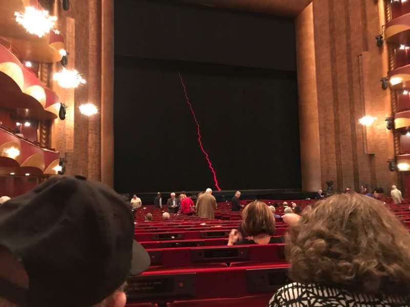 Vista sentada para Metropolitan Opera House - Lincoln Center Secção ORCL Fila X Lugar 11 And 13