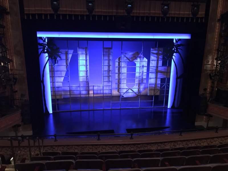 Vista sentada para Nederlander Theatre Secção Mezzanine C Fila G Lugar 112 And 113