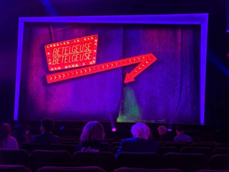 Vista sentada para Winter Garden Theatre Secção Orchestra C Fila H Lugar 105 & 106