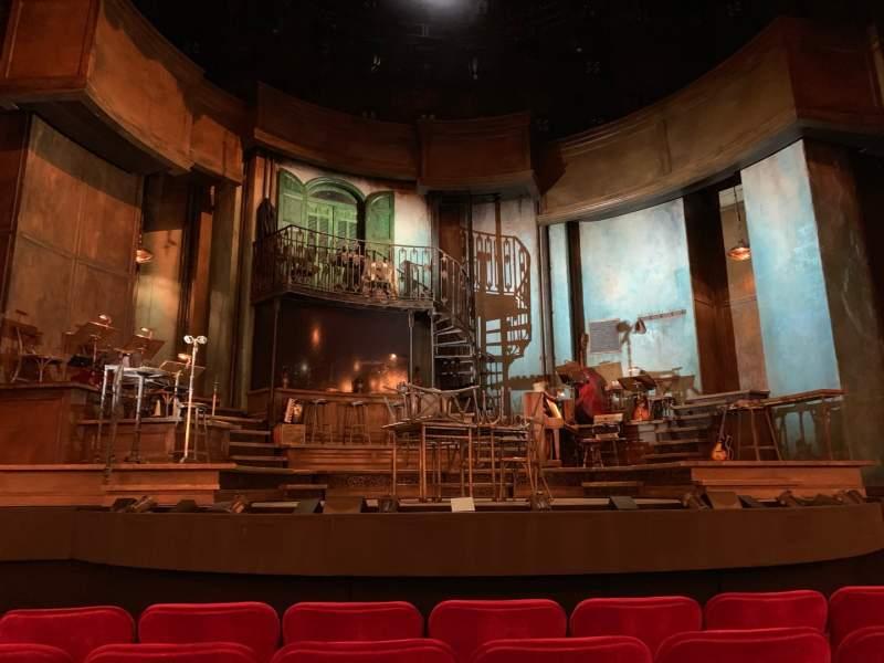Vista sentada para Walter Kerr Theatre Secção Orchestra C Fila G Lugar 111, 112 & 113