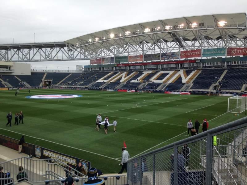 Vista sentada para Talen Energy Stadium Secção 101 Fila N Lugar 3