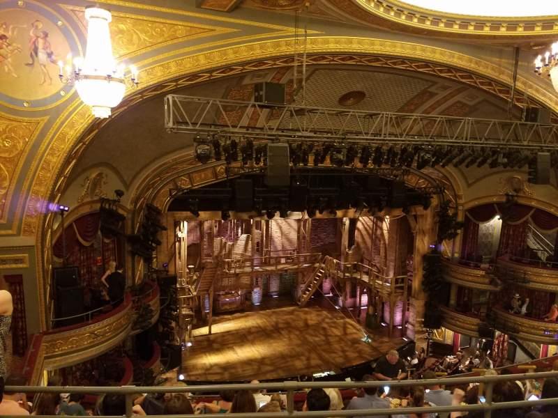 Vista sentada para Richard Rodgers Theatre Secção left rear mezz Fila b Lugar 19