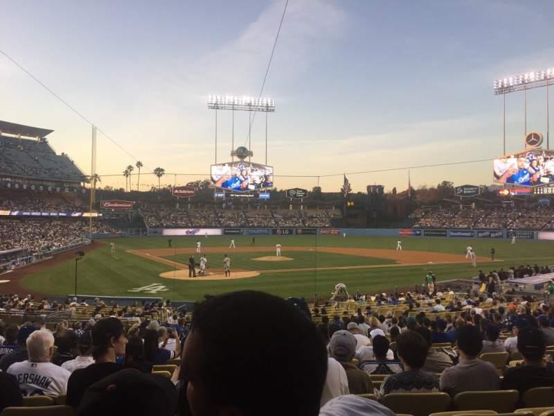 Vista sentada para Dodger Stadium Secção 6FD Fila U Lugar 8