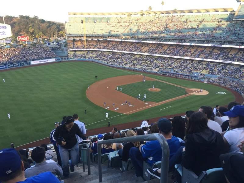 Vista sentada para Dodger Stadium Secção 35RS Fila U Lugar 1