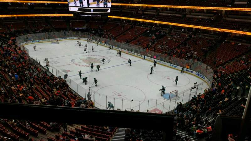 Vista sentada para Honda Center Secção 405 Fila A Lugar 1