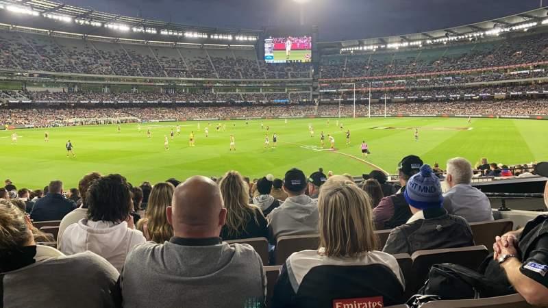 Vista sentada para Melbourne Cricket Ground Secção M28 Fila X Lugar 17
