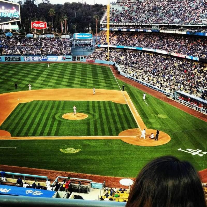 Vista sentada para Dodger Stadium Secção 11rs Fila B Lugar 5 and 6
