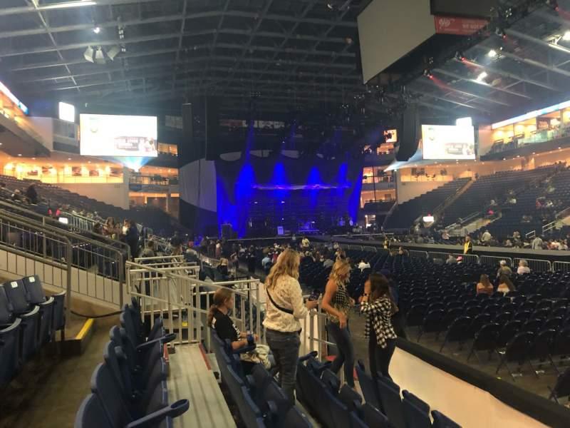 Vista sentada para Webster Bank Arena Secção 117 Fila A Lugar 1