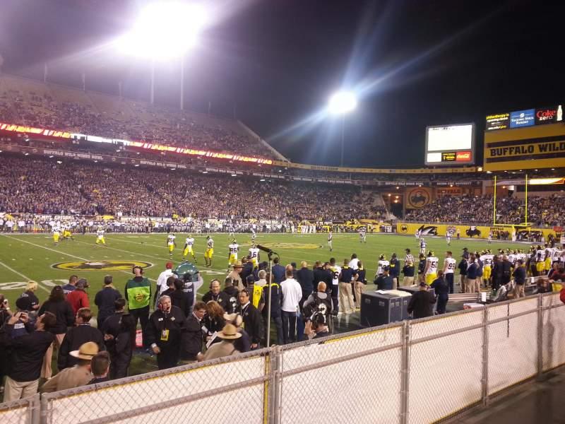 Vista sentada para Sun Devil Stadium Secção 9 Fila 4 Lugar 23