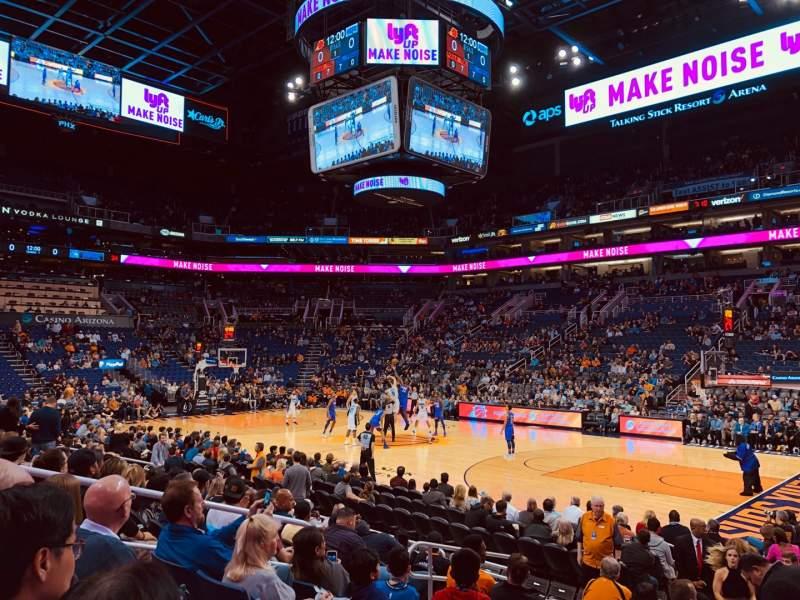 Vista sentada para PHX Arena Secção 111 Fila 10 Lugar 14