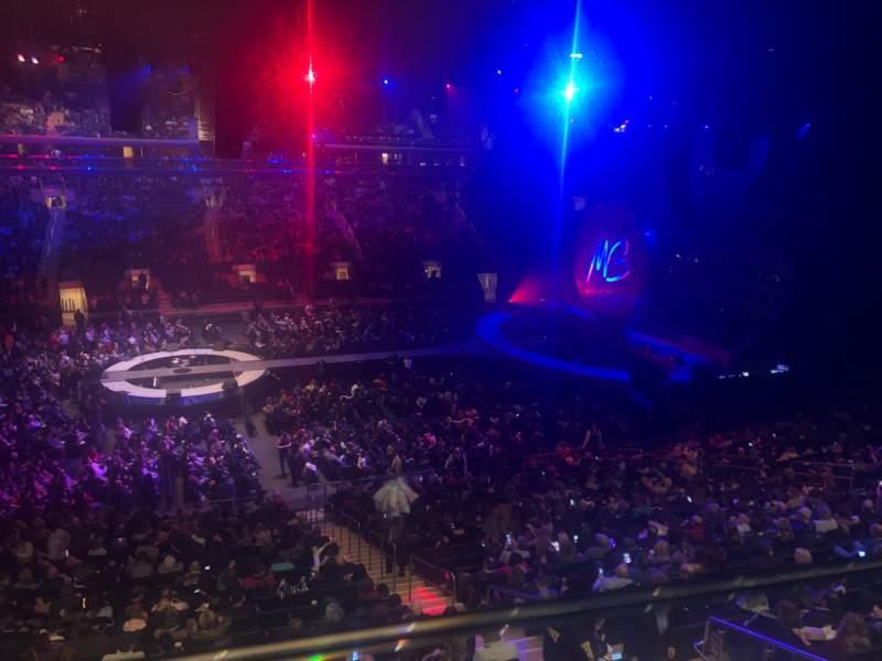 Vista sentada para Madison Square Garden Secção 210 Fila 1 Lugar 16