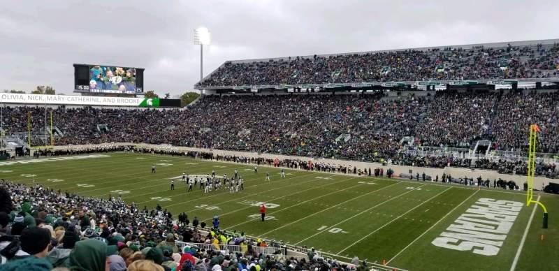 Vista sentada para Spartan Stadium Secção 20 Fila 45 Lugar 43