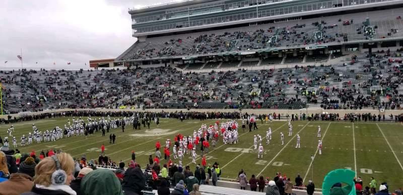 Vista sentada para Spartan Stadium Secção 6 Fila 35 Lugar 29
