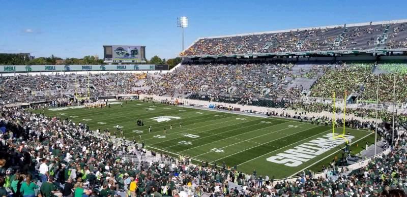 Vista sentada para Spartan Stadium Secção 19 Fila 61 Lugar 62