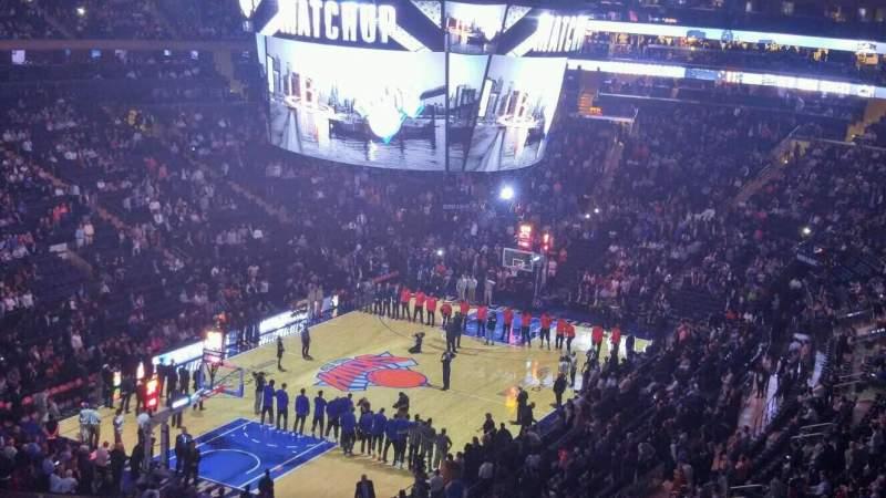 Vista sentada para Madison Square Garden Secção 419 Fila 3 Lugar 11