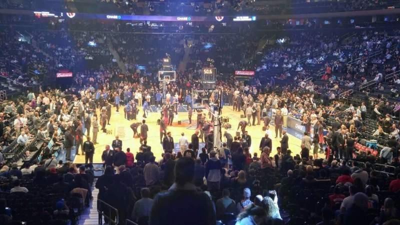 Vista sentada para Madison Square Garden Secção 102 Fila 14 Lugar 1