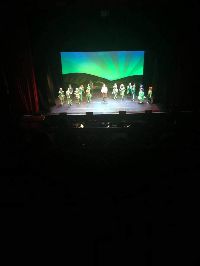 Vista sentada para Chicago Theatre Secção Balcony4 Fila A  Lugar 404