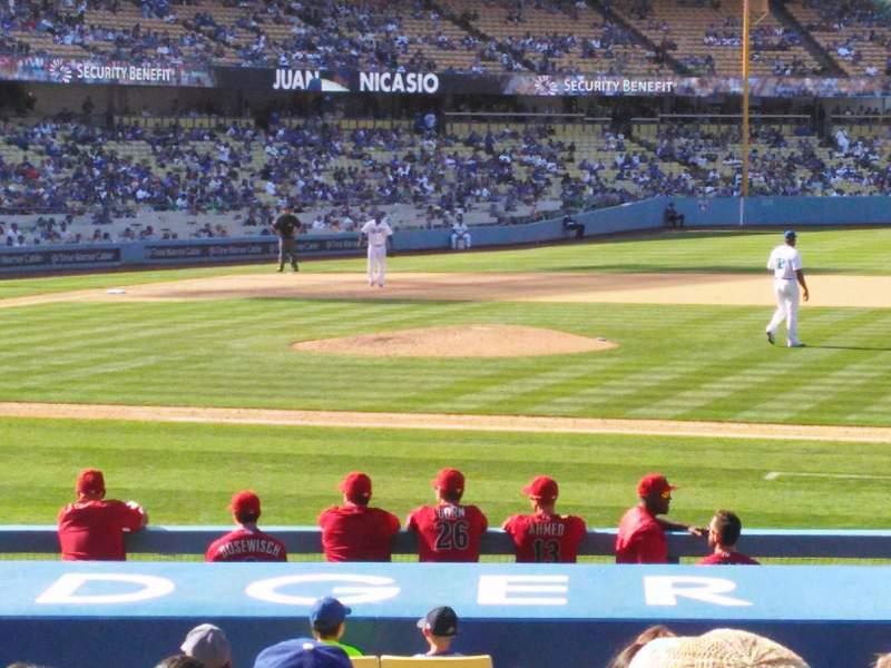 Vista sentada para Dodger Stadium Secção 20FD Fila L Lugar 4
