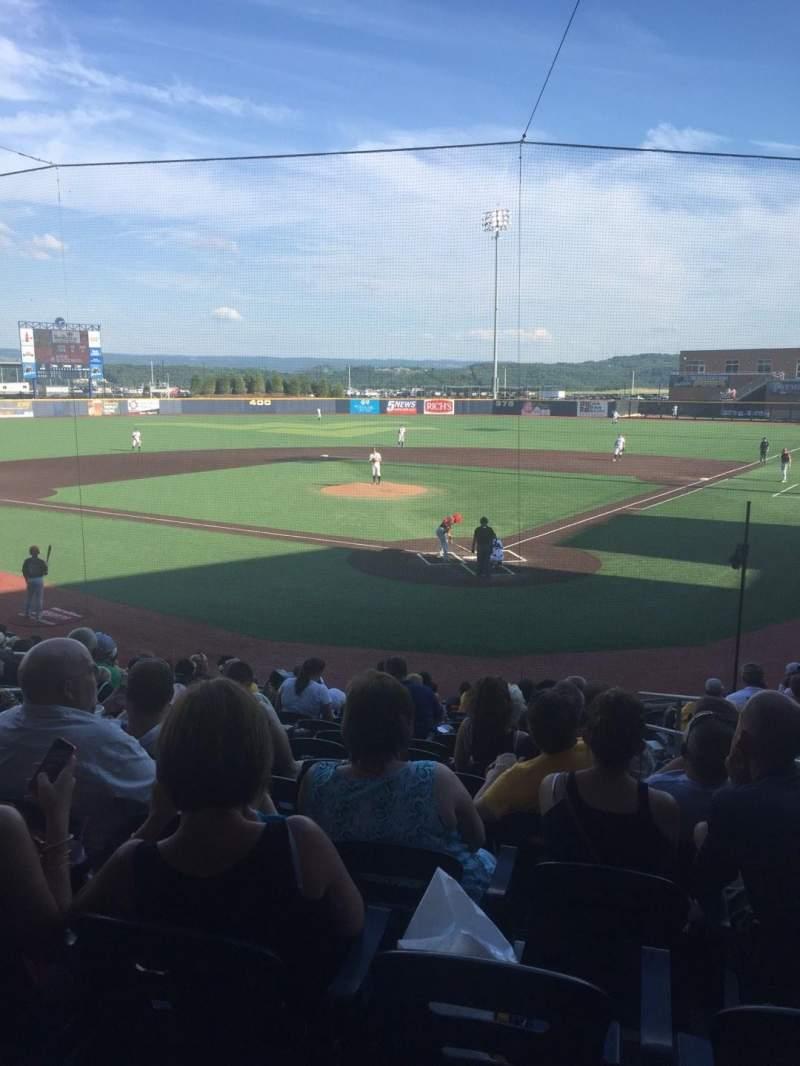 Vista sentada para Monongalia County Ballpark Secção 104 Fila O Lugar 18