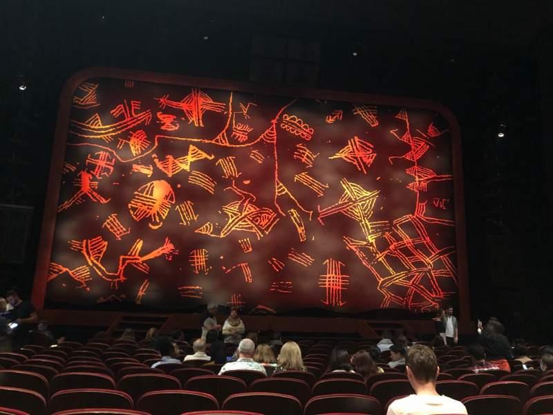 Vista sentada para Minskoff Theatre Secção Orchestra C Fila O Lugar 112