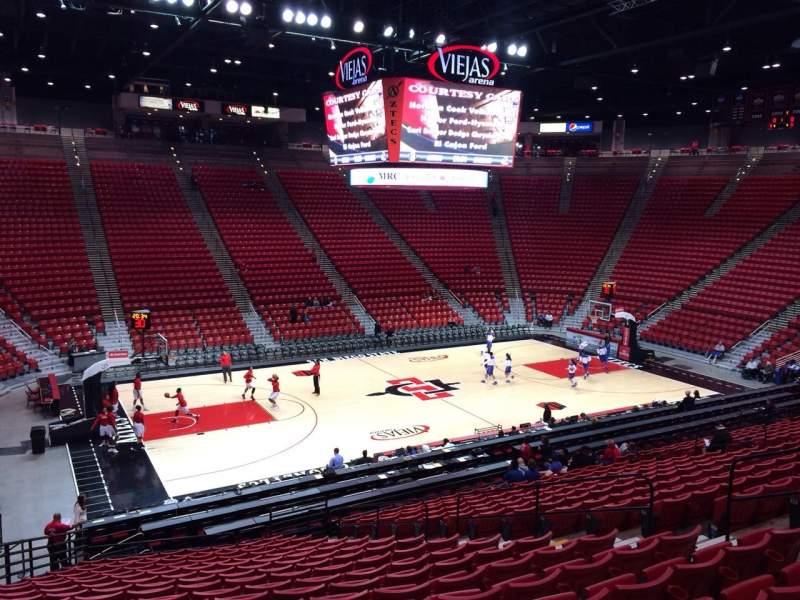 Vista sentada para Viejas Arena Secção P Fila 23 Lugar 12