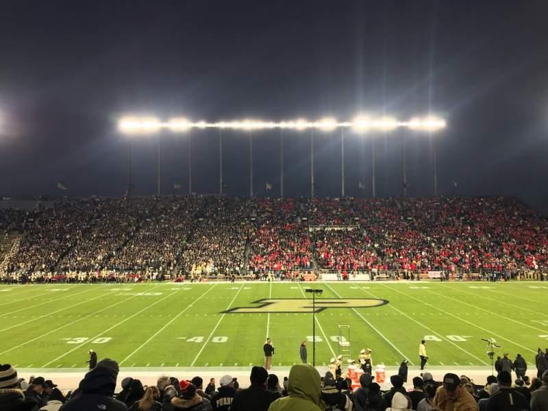 Vista sentada para Ross-Ade Stadium Secção 124 Fila 31 Lugar 112