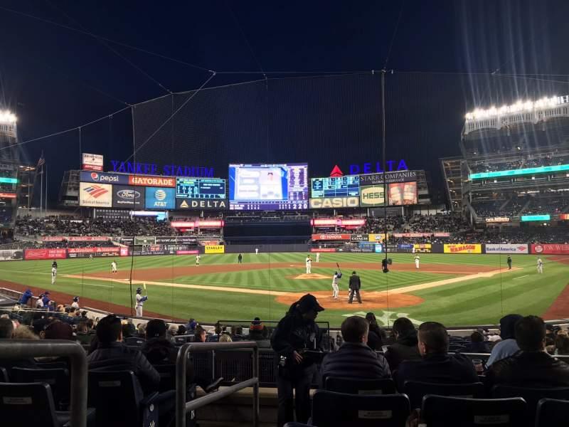 Vista sentada para Yankee Stadium Secção 121A Fila 7 Lugar 1