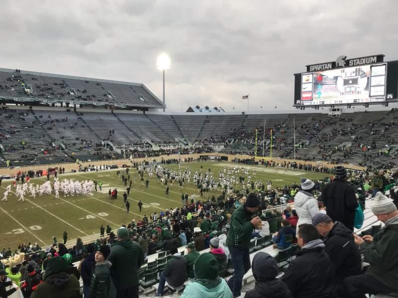 Vista sentada para Spartan Stadium Secção 25 Fila 45 Lugar 28