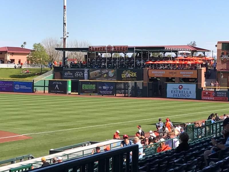 Vista sentada para Scottsdale Stadium Secção 306 Fila 3 Lugar 6