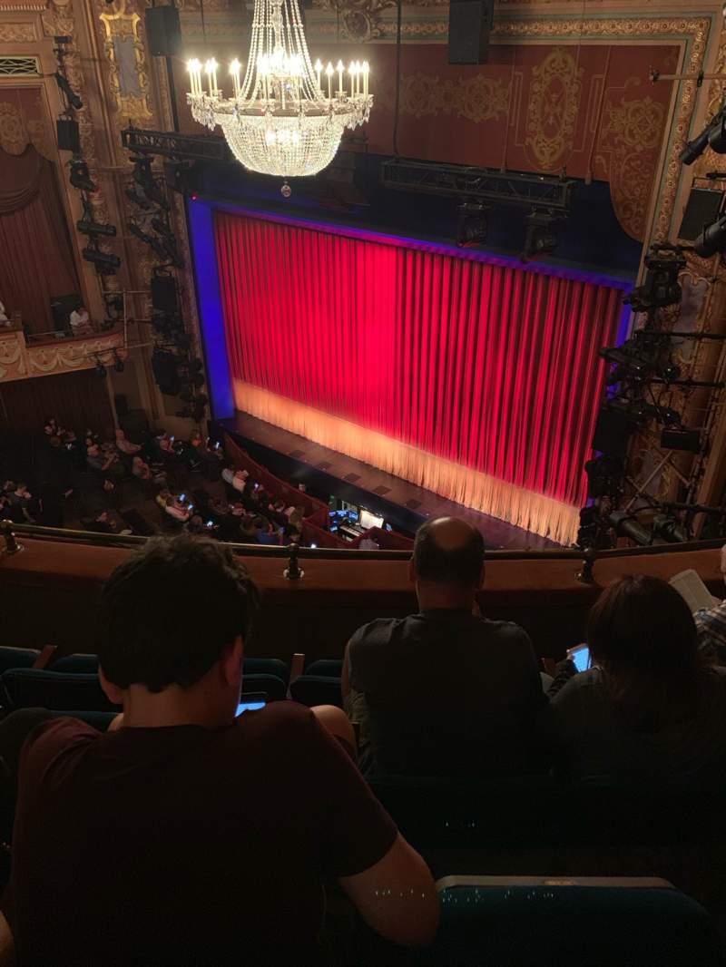 Vista sentada para Longacre Theatre Secção Balcony R Fila D Lugar 21