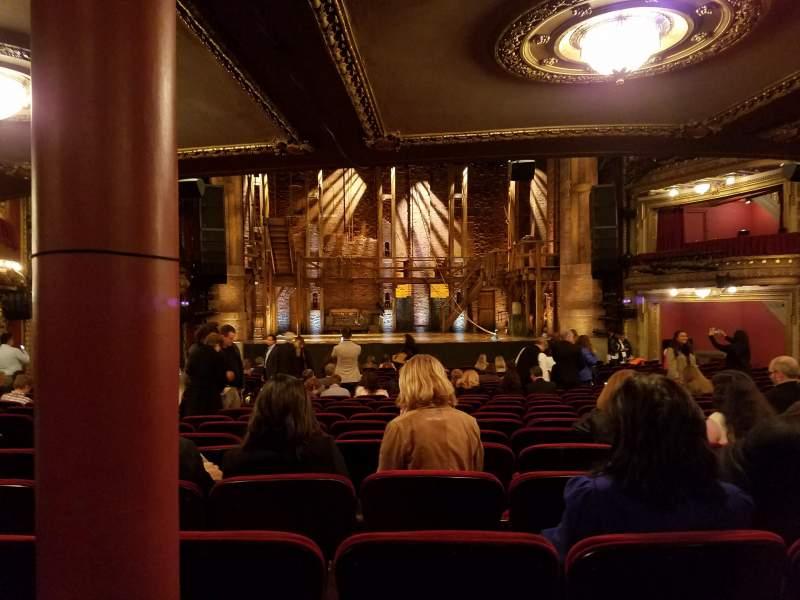 Vista sentada para CIBC Theatre Secção Orchestra C Fila X Lugar 109