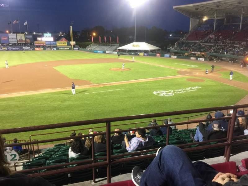 Vista sentada para McCoy Stadium Secção 12 Fila CC Lugar 14