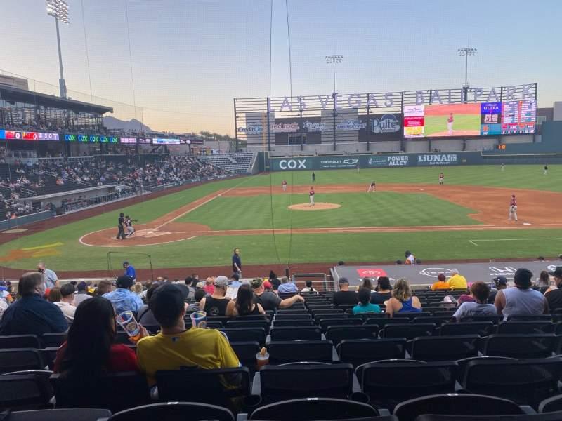 Vista sentada para Las Vegas Ballpark Secção 108 Fila V Lugar 11