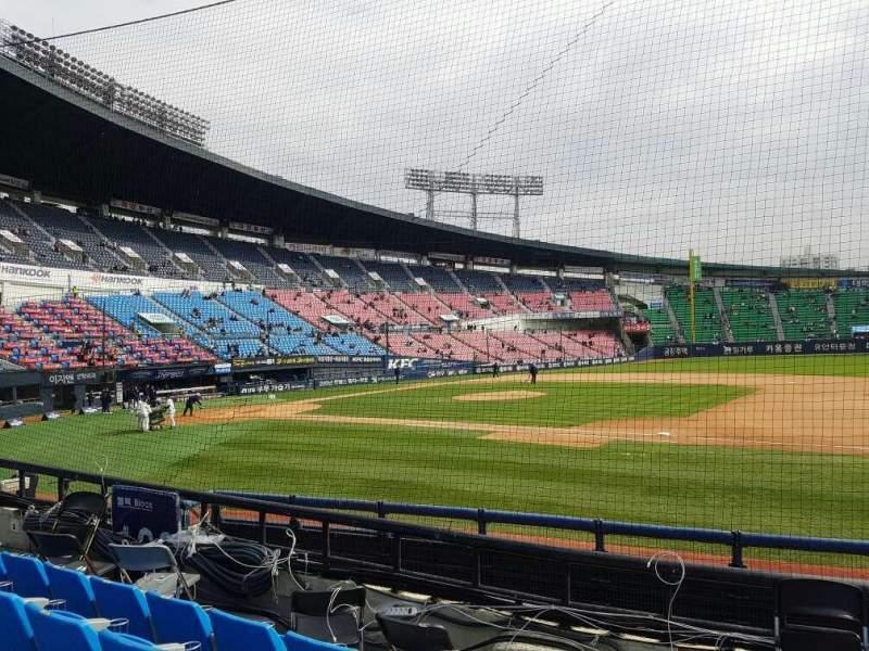 Vista sentada para Jamsil Baseball Stadium Secção 107 Fila 5 Lugar 73