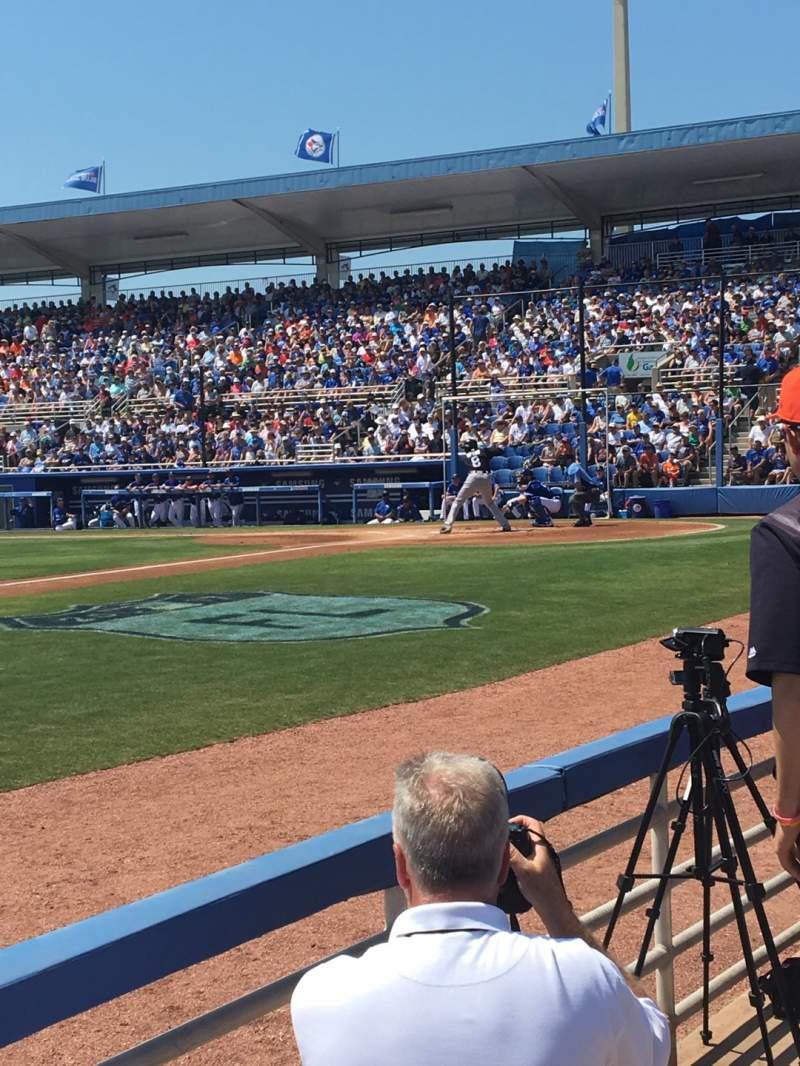 Vista sentada para TD Ballpark Secção 110 Fila 2 Lugar 10