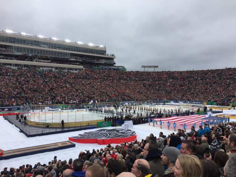 Vista sentada para Notre Dame Stadium Secção 13 Fila 29 Lugar 13