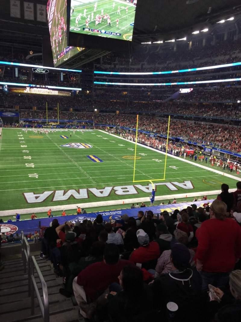 Vista sentada para AT&T Stadium Secção 124 Fila 6 Lugar 1