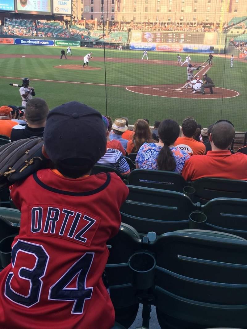 Vista sentada para Oriole Park at Camden Yards Secção 44 Fila 13 Lugar 5