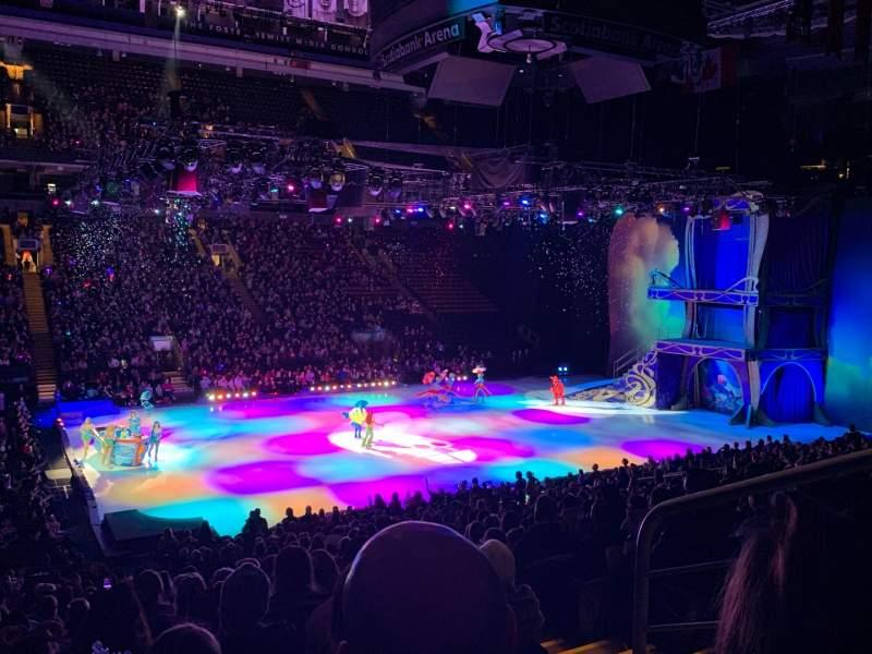 Vista sentada para Scotiabank Arena Secção 121 Fila 23 Lugar 3