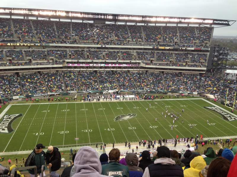Vista sentada para Lincoln Financial Field Secção 224 Fila 15 Lugar 26