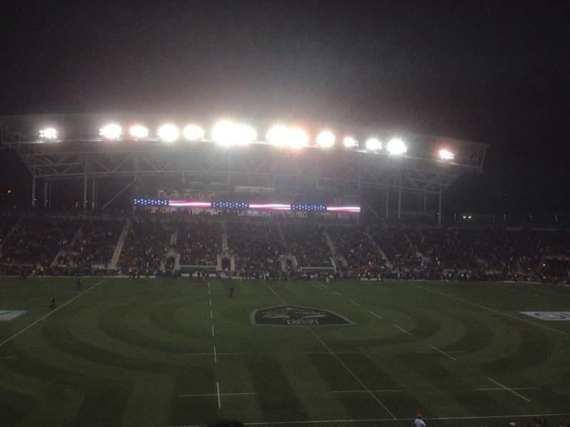 Vista sentada para Talen Energy Stadium Secção 128 Fila BB Lugar 9