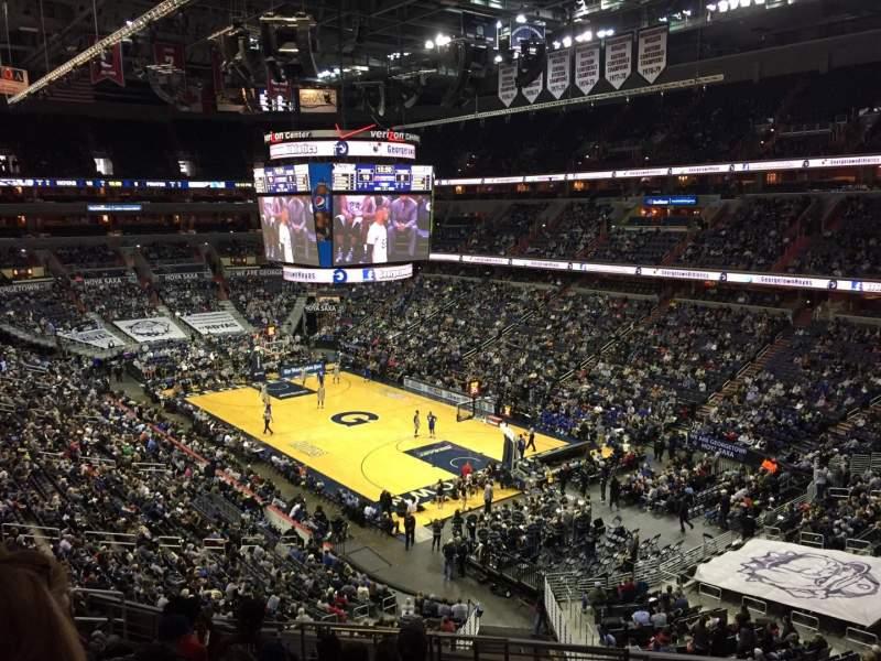 Vista sentada para Capital One Arena Secção 220 Fila L Lugar 10