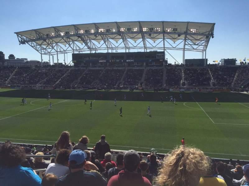 Vista sentada para Talen Energy Stadium Secção 124 Fila X Lugar 16