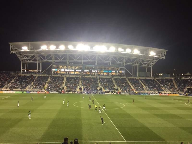 Vista sentada para Talen Energy Stadium Secção 128 Fila Y Lugar 1