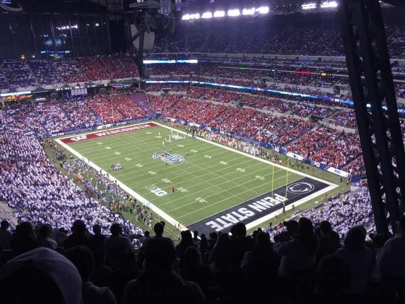 Vista sentada para Lucas Oil Stadium Secção 631 Fila 19 Lugar 6