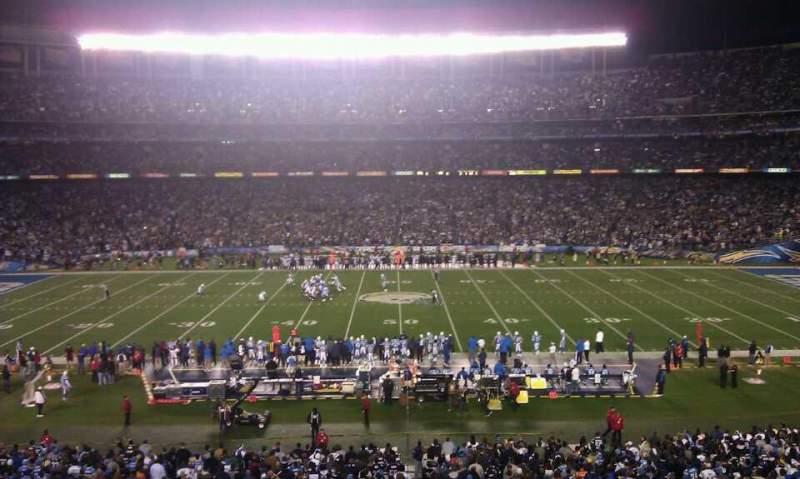 Vista sentada para San Diego Stadium Secção P37
