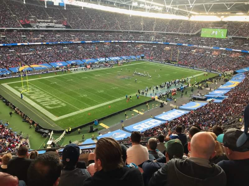 Vista sentada para Wembley Stadium Secção 507 Fila 7 Lugar 186