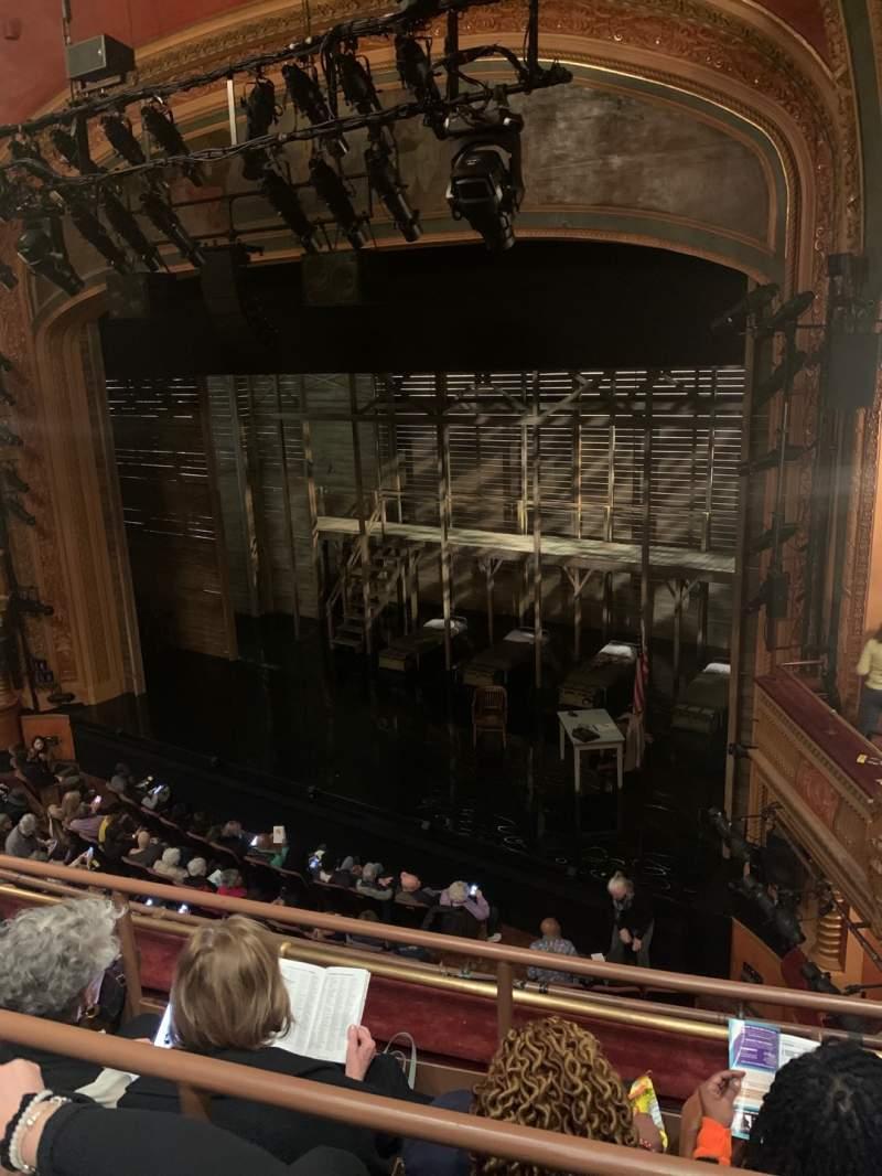 Vista sentada para American Airlines Theatre Secção Front Mezzanine Fila C Lugar 104