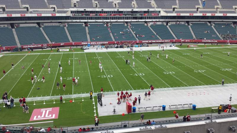 Vista sentada para Lincoln Financial Field Secção C20 Fila 4 Lugar 22