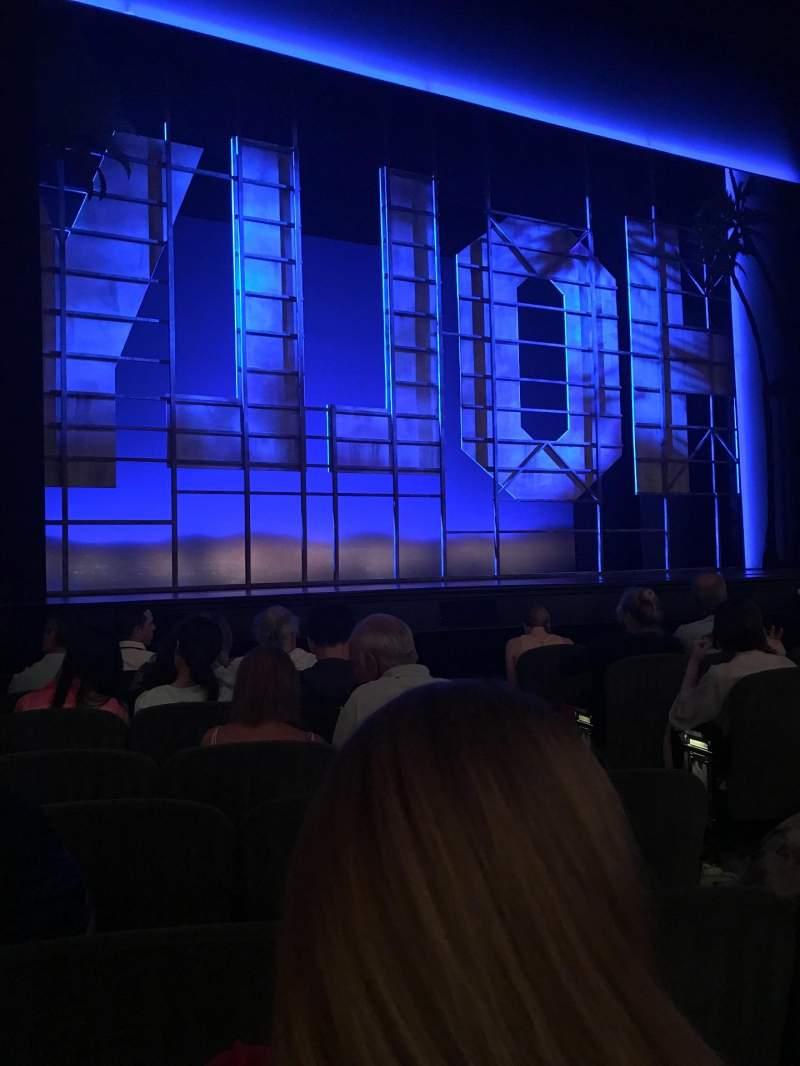 Vista sentada para Nederlander Theatre Secção Orchestra L Fila H Lugar 7